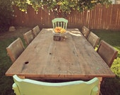 Large Reclaimed Salvaged Wood Farmhouse Dining Table // Raw Unfinished Edition