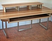 Minimalist Recording Studio // Wood and Steel Desk for Pro Tools and Logic