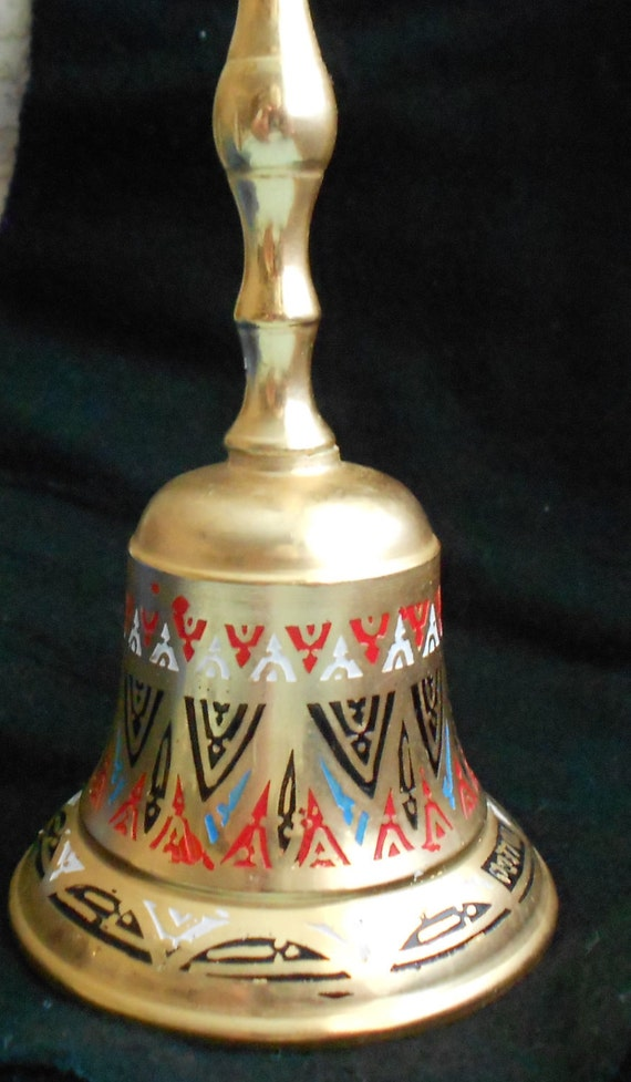 Reserved Brass Amp Enameled Bell Dinner Bell 5 1 2 Inches