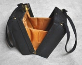 RESERVED // 1940's Black Box Purse with Top Hat Clasp / Graceline Master Purse