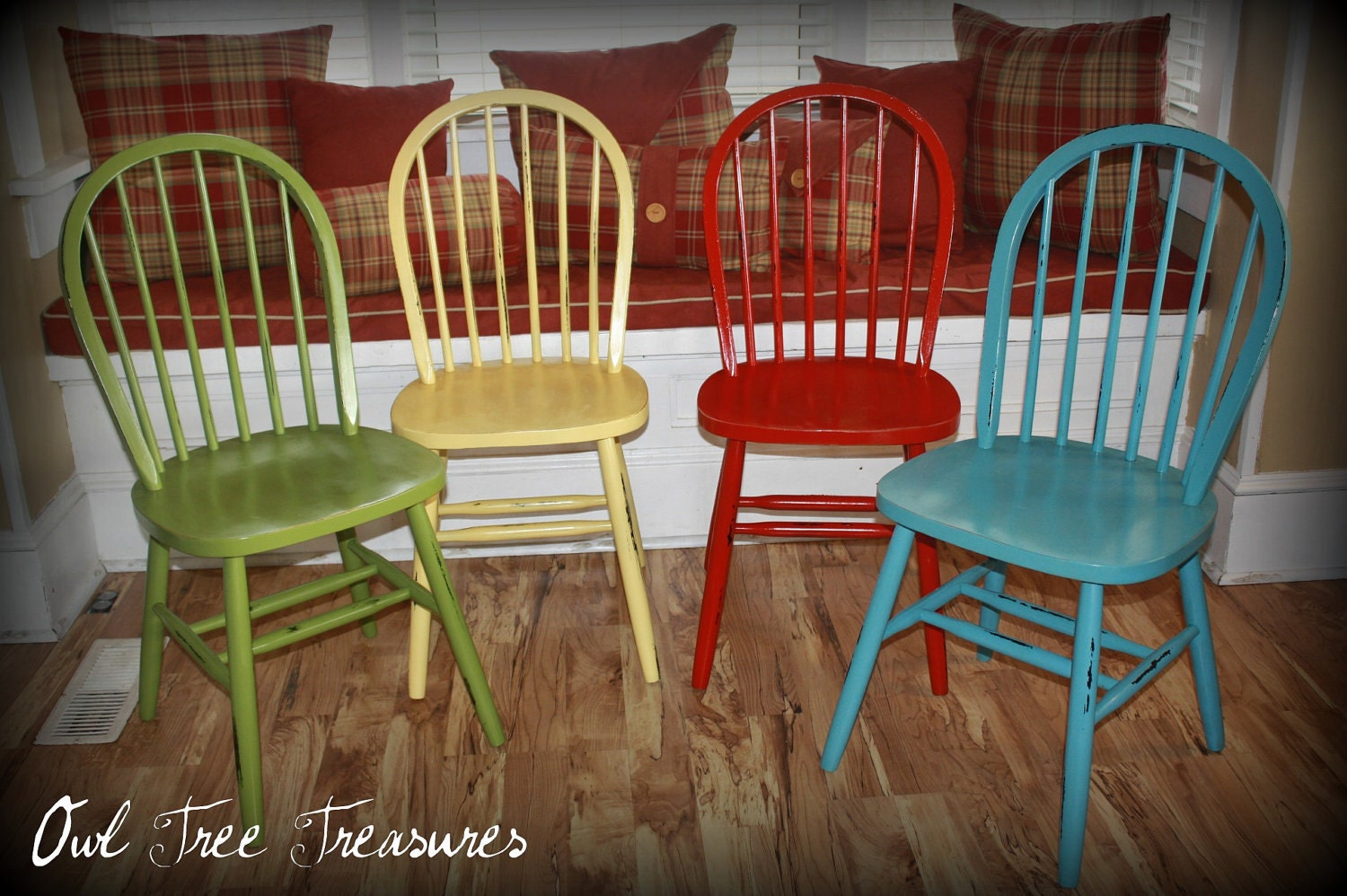 Distressed Farm Chairs Set
