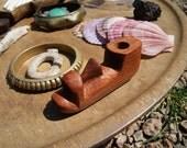 Wooden Hawaiian Tiki Face Pipe
