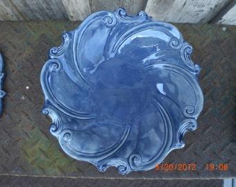 Swirl Blue Candy Dish