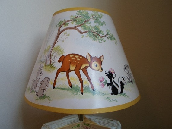 Vintage Bambi Lampand Bambi Lamp Shade Made By The Dolly Toy