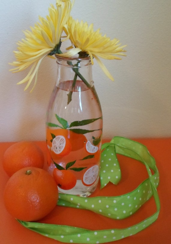 vintage France Orange Juice carafe