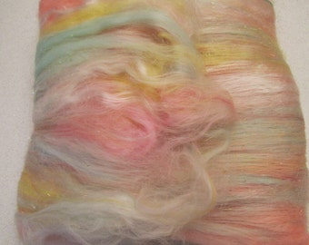 NECTAR, 4.0 oz, fiber art batt for spinning, carded batt, bling batt, Angelina sparkle, felting fiber, fiber art, spinning fiber,