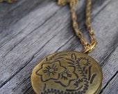Vintage Style Flowered Locket