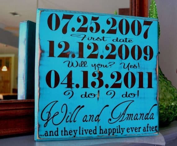 Couple Personalized Engagement Gift, Custom Wedding Gift, Engagement Present, Bridal Shower Gift. Happily Ever After.