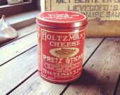 1920's Red Pretz-Sticks Tin Can