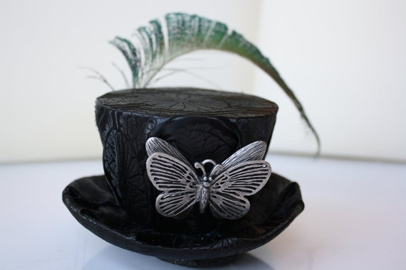 Black Mini Steampunk Hat