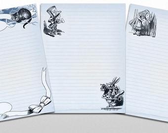 John Tenniel Alice in Wonderland printable PDF Stationery