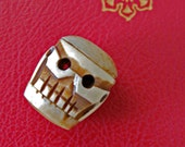 Skeleton Bead - carved Bone or Horn