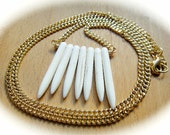 Ivory White Magnesite Tribal Indie Necklace