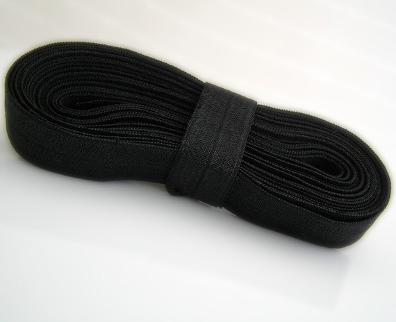 FOE for Headbands Black Fold Over Elastic  -10 yards of 5/8 inch Elastic