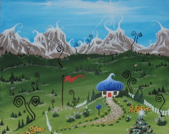 Mystical Imaginary Fairy Land Lazy Spring Painting