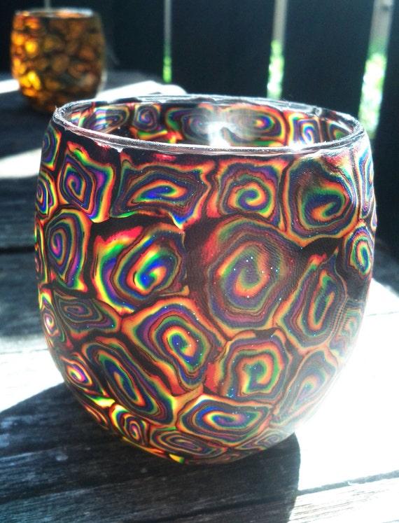 Peek-a-Boo Dark Prizm Rainbow Candle Holder