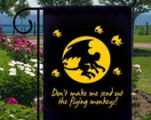 Flying Monkeys Small Garden Flag, Adding Distinction To Your Yard, Business or Boat