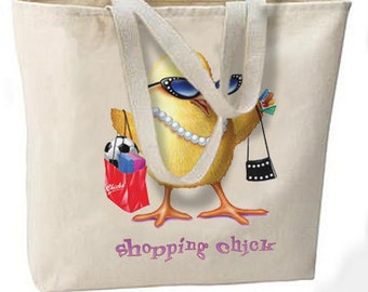 Shopping Chick Jumbo Tote Bag, All Purpose Fun
