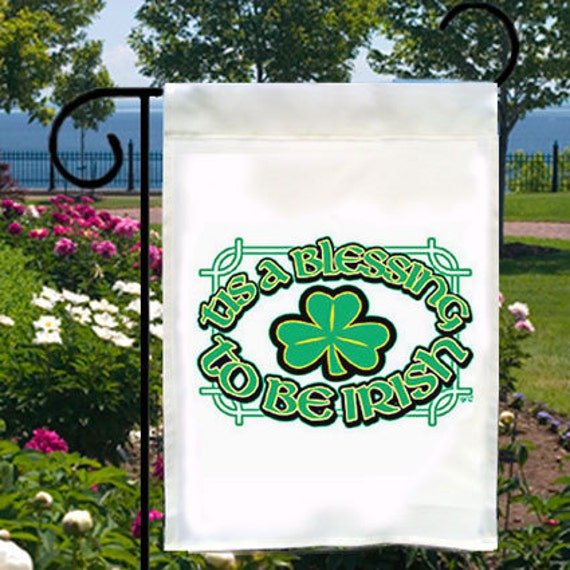Blessing To Be Irish Small Garden Flag, Adding Distinction To Your Yard, Business or Boat, Ireland, Celtic