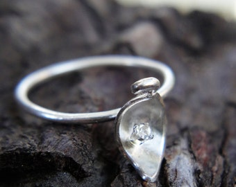 Handmade Silver Little Leaf Ring