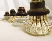 BEAUTIFUL 1930s Glass and Brass  Door Knobs