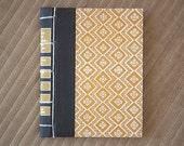 yellow vintage hand made journal // hard bound journal