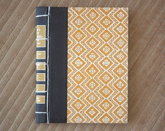 yellow vintage hand made journal // hard bound journal
