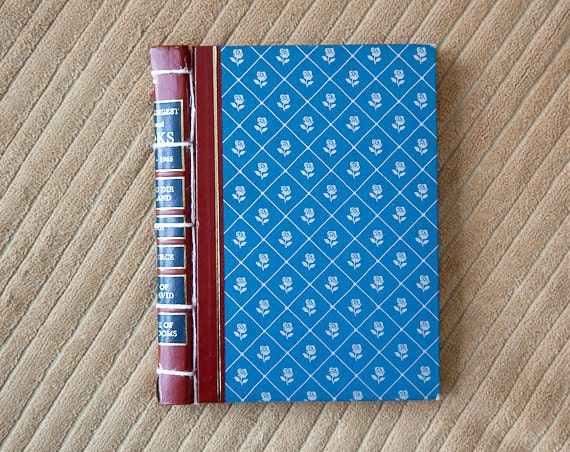 blue vintage hand made journal // hard bound journal