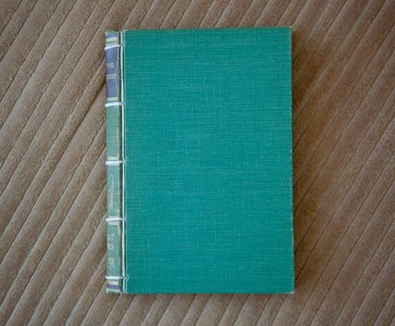 green handmade journal // hard bound journal