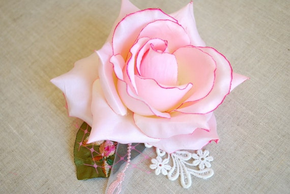 romantic rose, bridal hair comb, weddings accessories, bride, bridesmaids, shabby chic, photo prop, pastel, pale pink, romantic rose