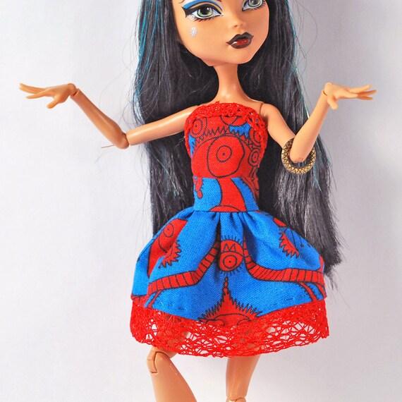 Monster High doll dress Adorably strange print short dress