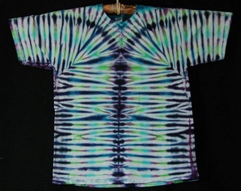 Blue Short Sleeve TieDye Tee Shirt Size L