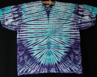 Purple TieDye Short Sleeve Tee Shirt Size 2XL