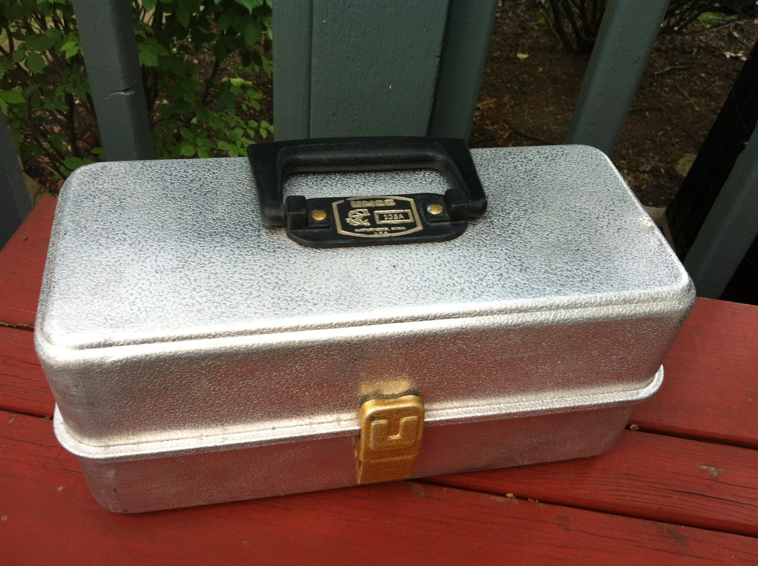 Vintage Aluminum Tackle Box By Umco