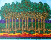 """Original acrylic painting """"Apple Orchard"""" by Tracy Levesque"""