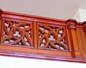 GOTHIC WALNUT Hand Carved BALCONY Railing Massive Stunning