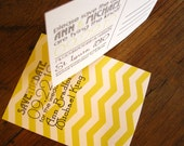 Modern, DIY, printable Save the Date postcard - Custom Chevron