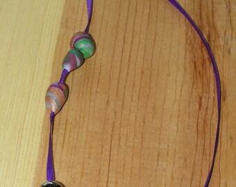 Purple Ribbon Paperclip Bookmark