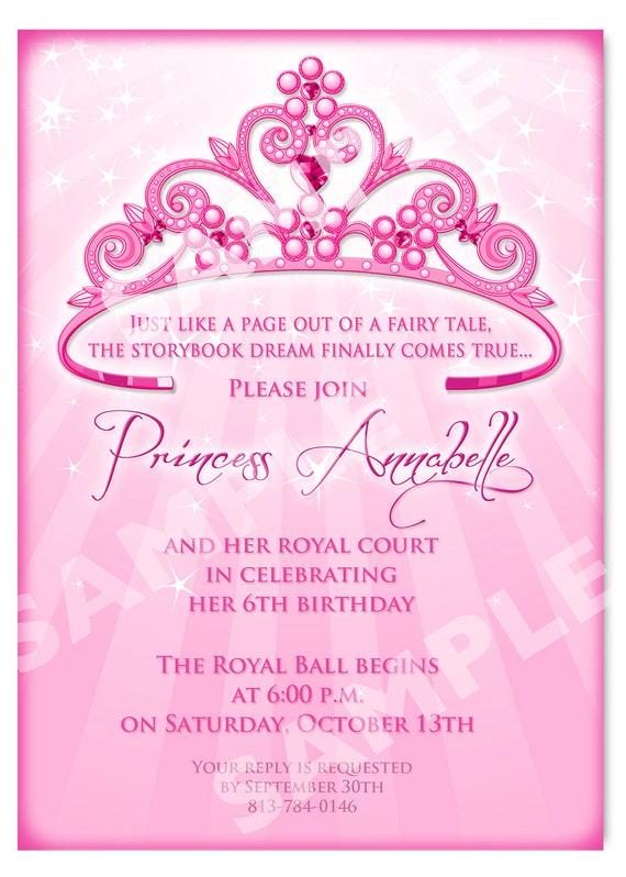 Einladung Prinzessin Geburtstag Diy Prinzessin Krone
