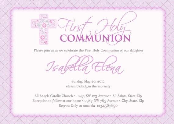 Primera comunión invitaciones invitaciones de por artisacreations