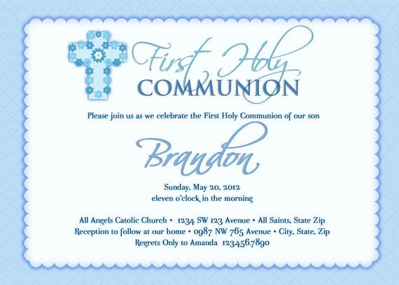 Boy's First Communion Invitations Communion Invitations