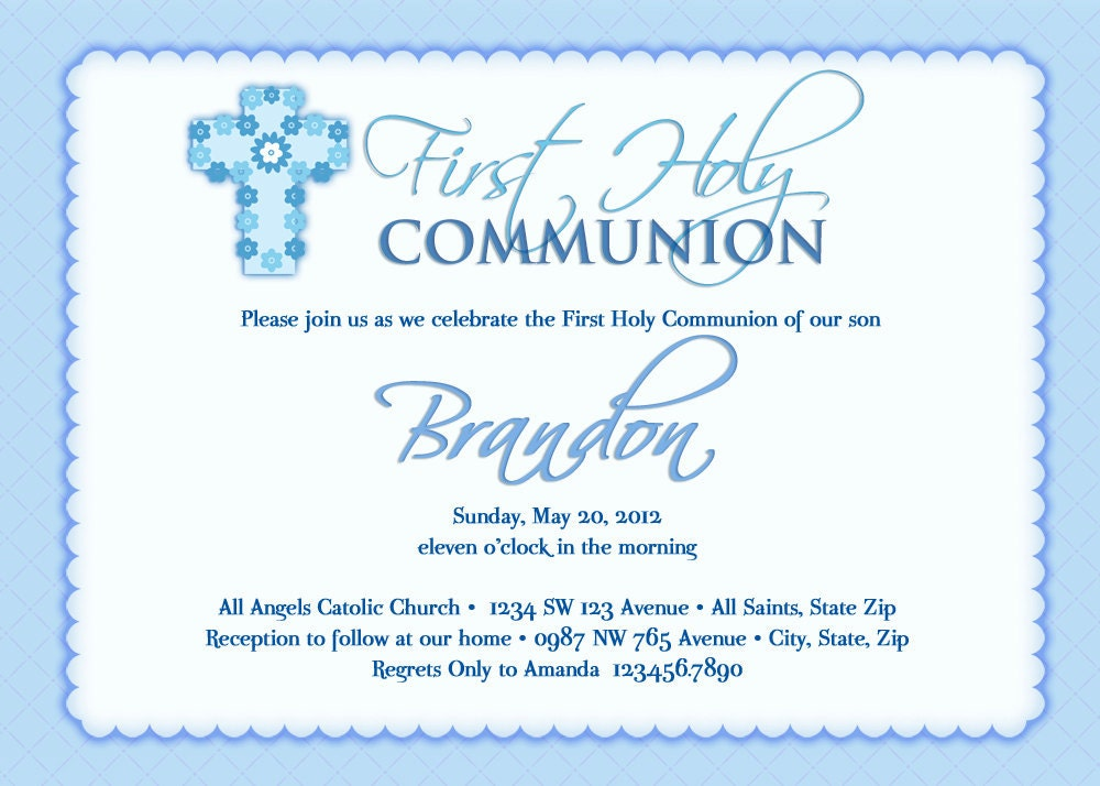 Boy S First Communion Invitations Communion Invitations