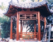 Pagoda, Made at a furniture grade level, Mahogany, Keystone Ceramic roof tiles I have spent a lifetime creating. This was 100 K, six months.