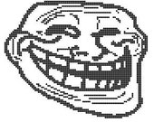 Troll Face Chart Pattern for Cross Stitch or Needlepoint