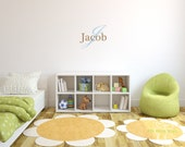 Baby Name Monogram Vinyl Wall Decal - Nursery Decals Letter Child