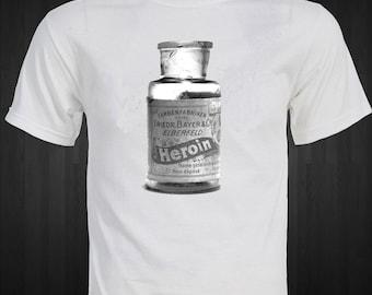 Heroin Bottle 1910 Bayer Medical Drugs T-Shirt
