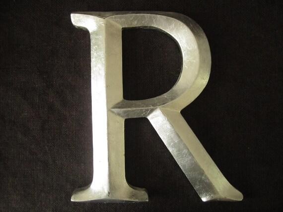 "Large Silverleaf Letter / Monogram ""R"" / Typography"