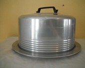 Vintage 1950s Regal Aluminum Locking Cake Carrier