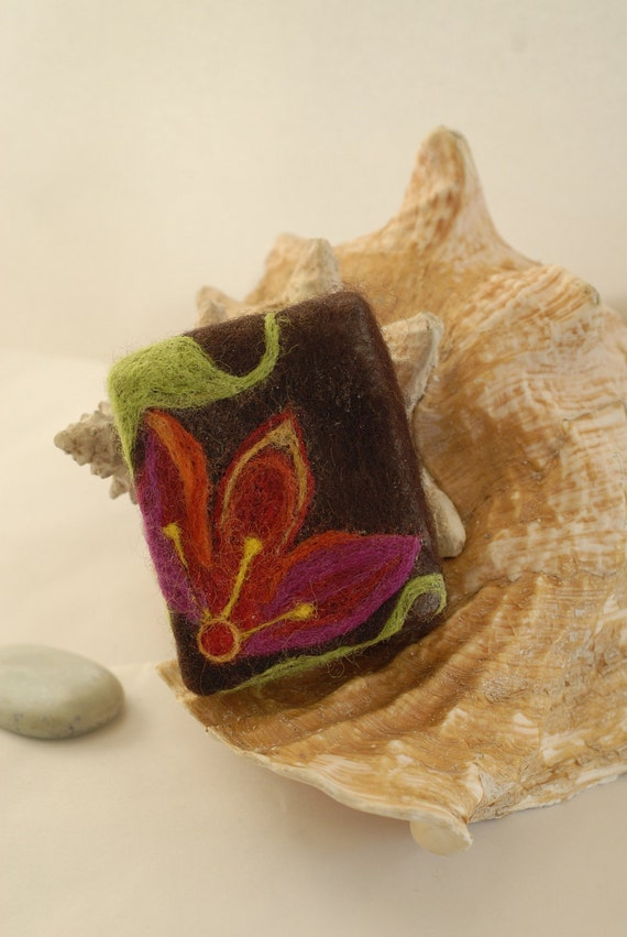 """Handmade Felted Soap"""" Paradise Flowers No.4""""   Made with Love and Positive Energy"""