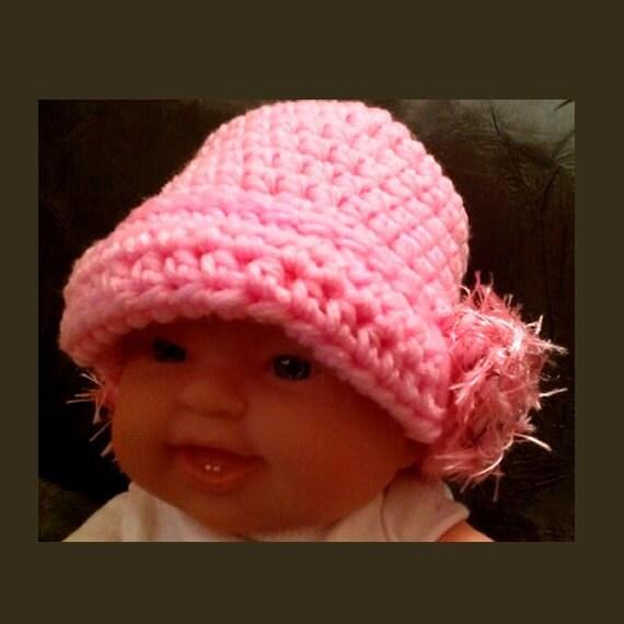 Flapper Cloche Crochet Newborn Pink  Hat - Photo Prop